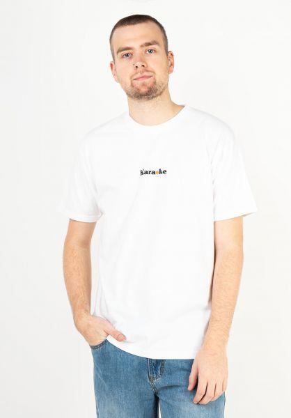 Karaoke Skateboarding T-Shirts Lyrics white vorderansicht 0323242