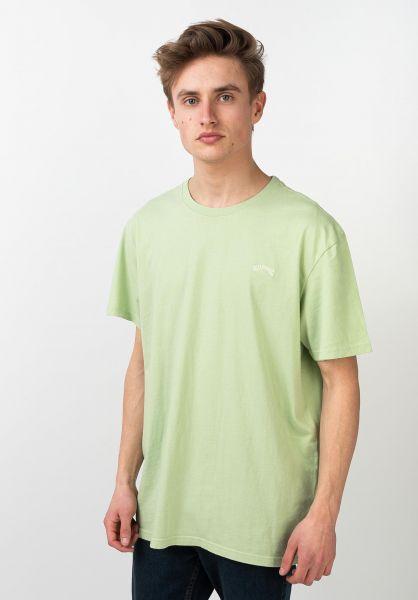 Billabong T-Shirts Arch Washed spearmint vorderansicht 0321579
