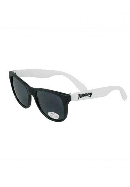 Thrasher Sonnenbrillen Logo white Vorderansicht