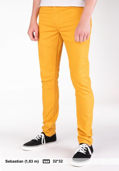 TITUS Jeans Skinny Fit curry Vorderansicht