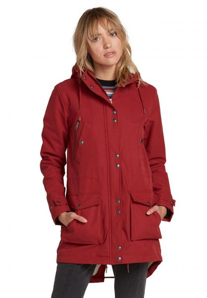 Damen Parka schwarz Mantel Volcom On By Walk eH9EYbDW2I