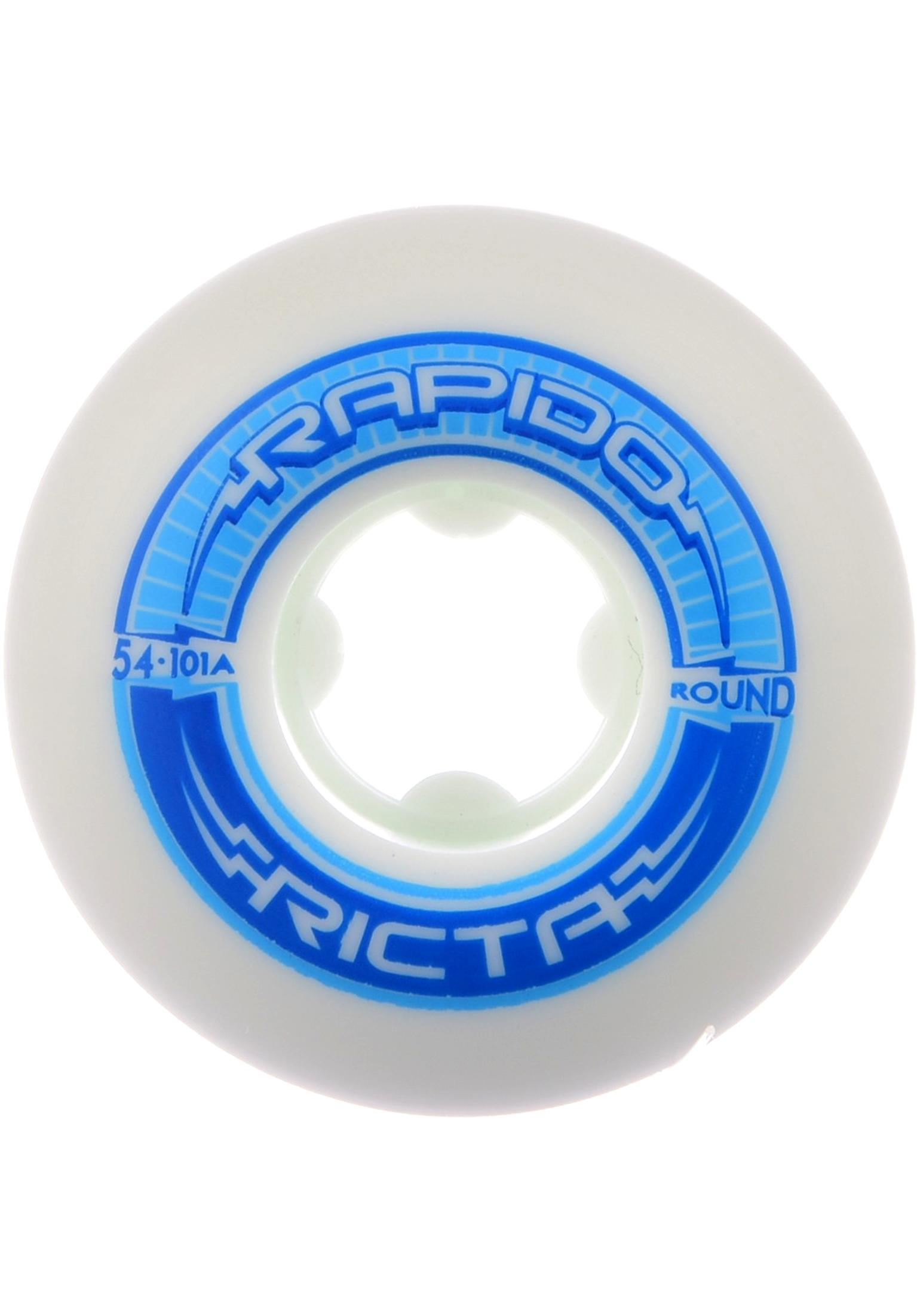 Ricta White Rapido Round 101A 56mm Skateboard Wheels