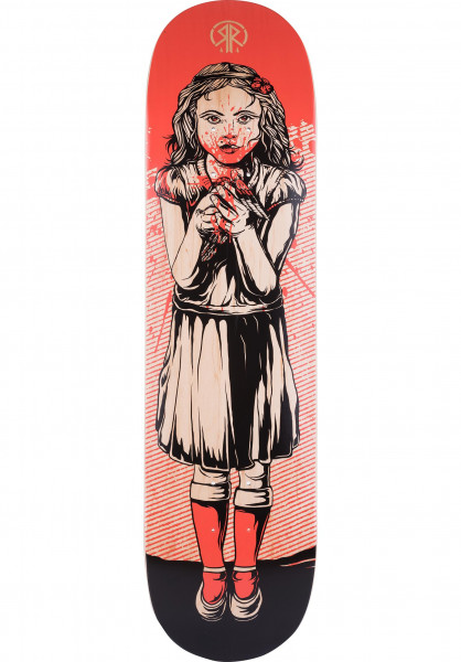 Rebel Rockers Skateboard Decks Cherry black-red Vorderansicht