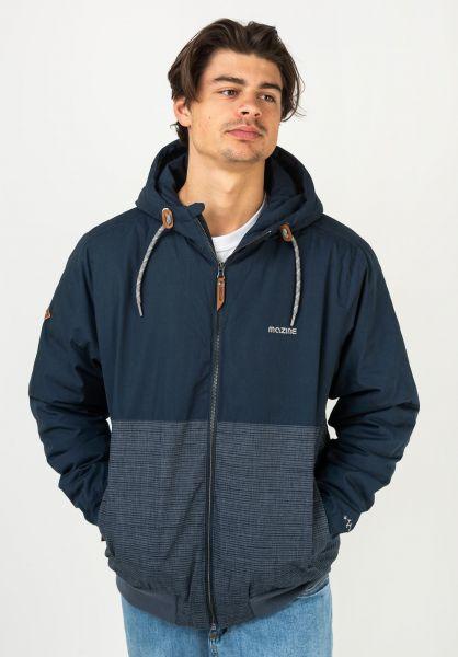 Mazine Winterjacken Campus Jacket navystriped vorderansicht 0250308
