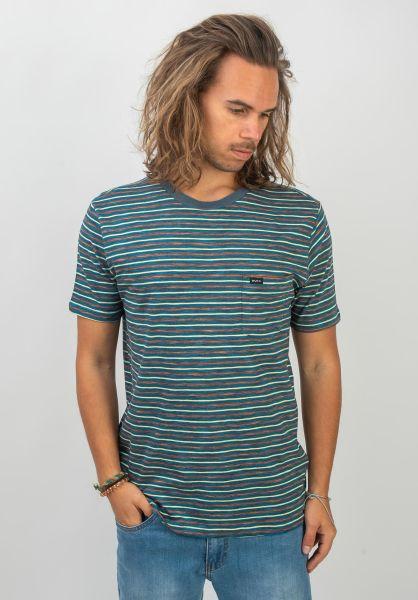 RVCA T-Shirts Foz Stripe navy vorderansicht 0320622