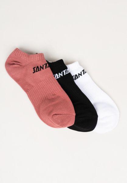 Santa-Cruz Socken Strip No Show 3er Pack assorted vorderansicht 0632165