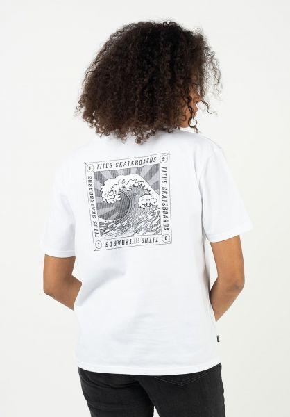 TITUS T-Shirts Forecast white vorderansicht 0321943