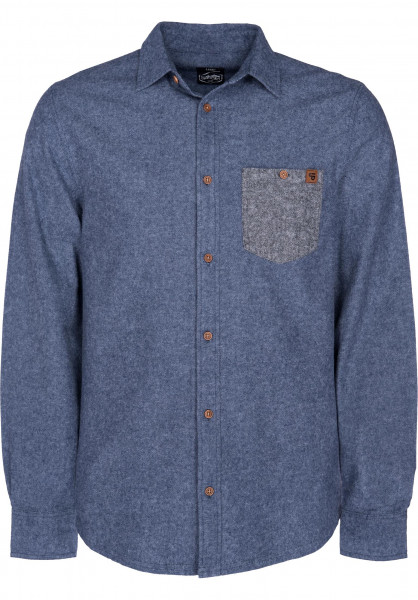 TITUS Hemden langarm Hank blue-black Vorderansicht