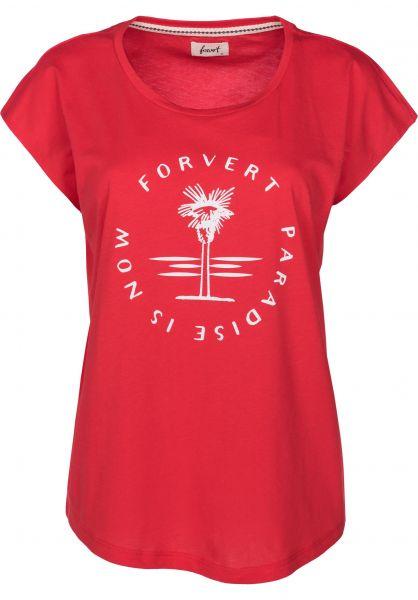 Forvert T-Shirts Clarkia red Vorderansicht
