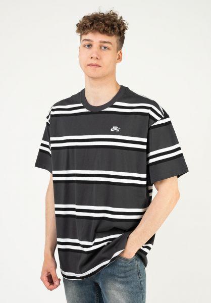 Nike SB T-Shirts YD Stripe darksmokegrey vorderansicht 0323965