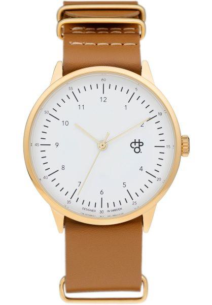 CHPO Uhren Harold Gold gold-white-brown vorderansicht 0810392