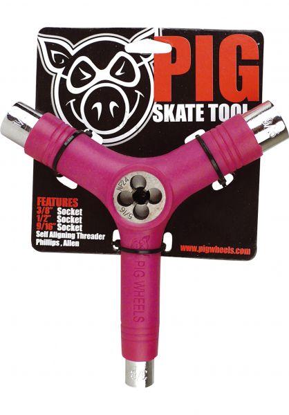 Pig Skate-Tools Tool inkl. Gewindeschneider pink vorderansicht 0150222