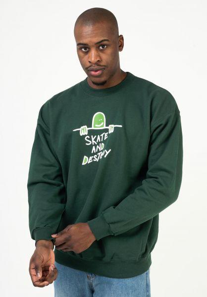 Thrasher Sweatshirts und Pullover Gonz SAD Logo forestgreen vorderansicht 0423048