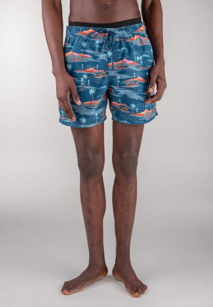 """Billabong Beachwear Sunday Pigment Layback 16"""" navy vorderansicht 0205290"""
