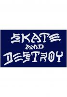 Thrasher-Verschiedenes-Skate-and-Destroy-Small-Sticker-blue-Vorderansicht