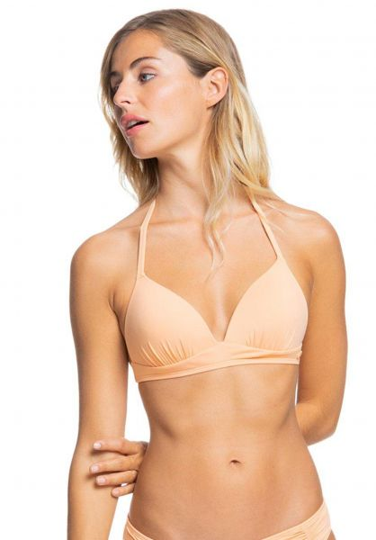 Roxy Beachwear Beach Classics Bikini-Top II salmonbuff vorderansicht 0205469