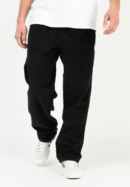 OBEY Chinos und Stoffhosen Easy OD Cord Pant black vorderansicht 0204209