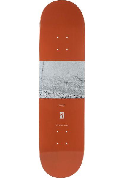 Poetic Collective Skateboard Decks Källkvist Subject Matter orange vorderansicht 0263487