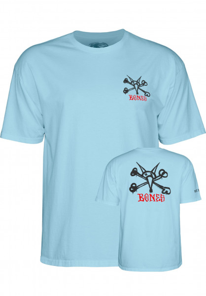 Powell-Peralta T-Shirts Rat Bones lightblue Vorderansicht