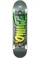 EMillion Skateboard komplett Wild Logo green Vorderansicht