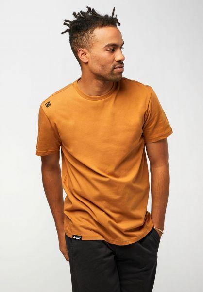 AEVOR T-Shirts Base Tee brownsugar vorderansicht 0322328
