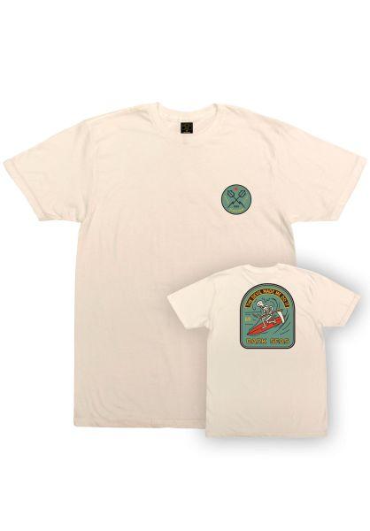 Dark Seas T-Shirts Doomsday Pigment Dyed ivory vorderansicht 0320860