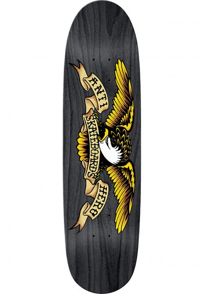 Anti-Hero Skateboard Decks Eagles Black Widow Shaped black vorderansicht 0261575