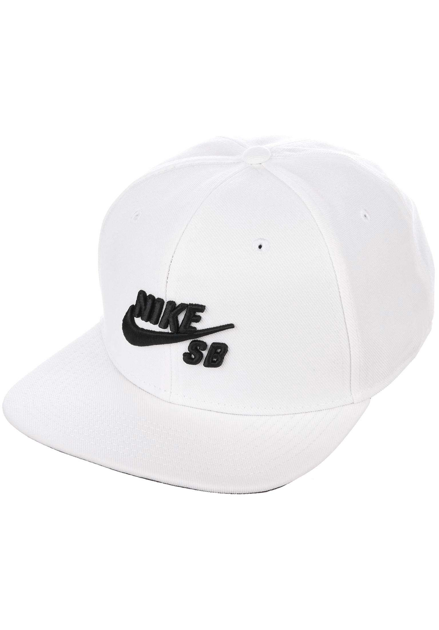 254e72d7fc9 SB Icon Snapback Nike SB Caps in white-white-black for Men