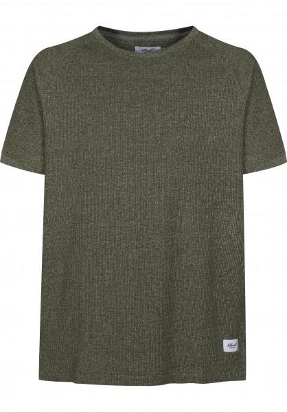 Reell T-Shirts Raglan olivemelange Vorderansicht