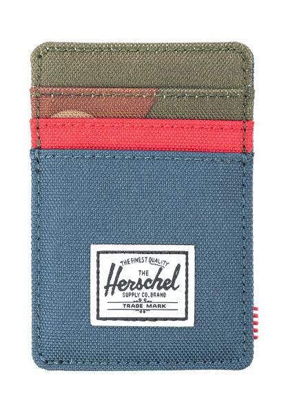 Herschel Portemonnaie Raven navy-red-woodlandcamo vorderansicht 0781051