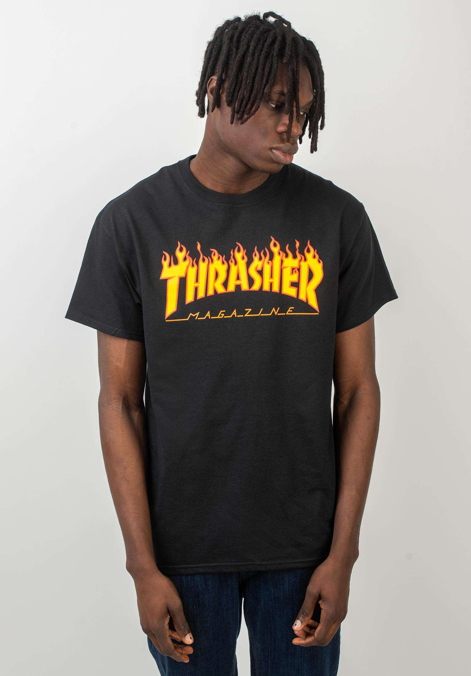 94543004 Flame Thrasher T-Shirts in black for Men   Titus