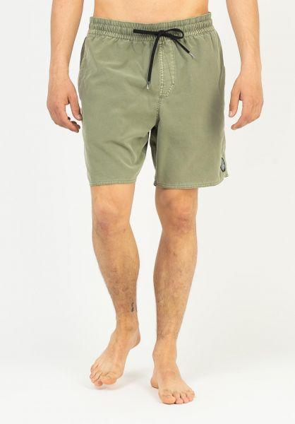 Volcom Beachwear Center Trunk 17´´ seagrassgreen vorderansicht 0205497