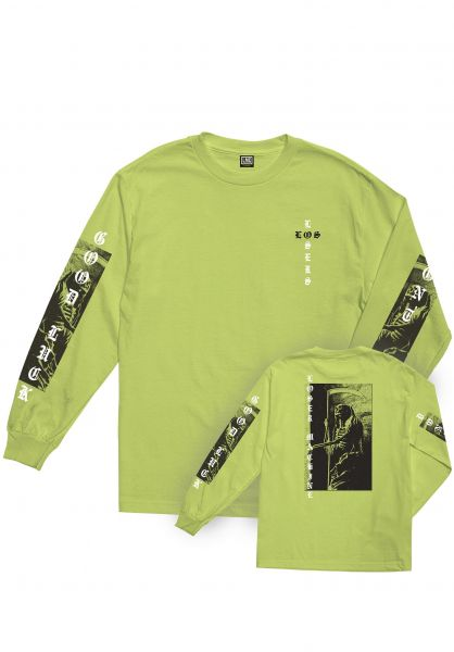 Loser-Machine Longsleeves Last Ride safetygreen vorderansicht 0382998