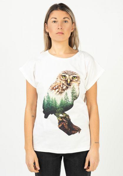 Dedicated T-Shirts Forest Owl offwhite vorderansicht 0322177