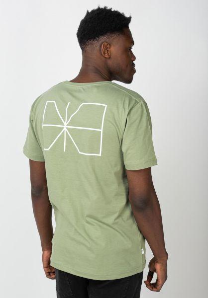 Makia T-Shirts Trim olive vorderansicht 0383343