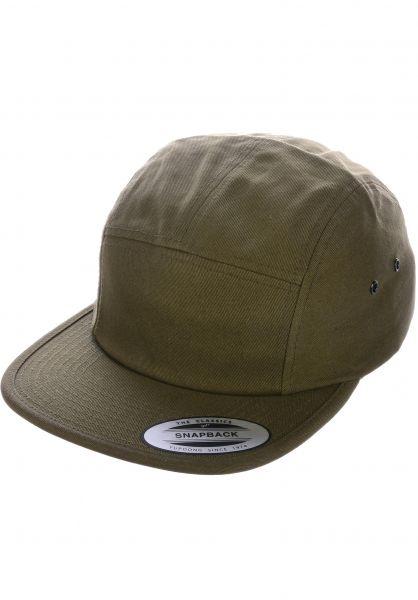 Flexfit Caps Jockey Cap olive vorderansicht 0566390