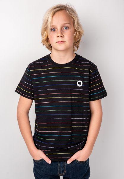 TITUS T-Shirts Glow Kids multi-black vorderansicht 0398401