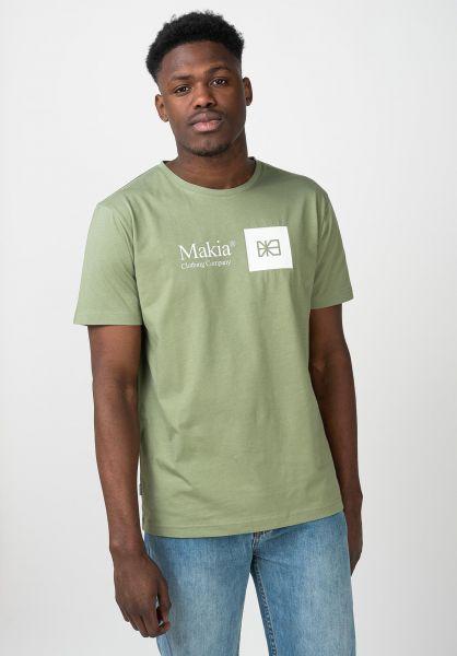Makia T-Shirts State olive vorderansicht 0321415