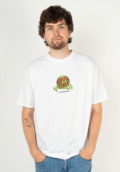 Santa-Cruz T-Shirts Fish Eye Guy white vorderansicht 0324056