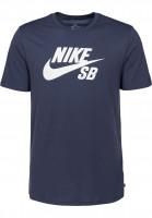 Nike SB T-Shirts DFT Icon Logo thunderblue-white Vorderansicht