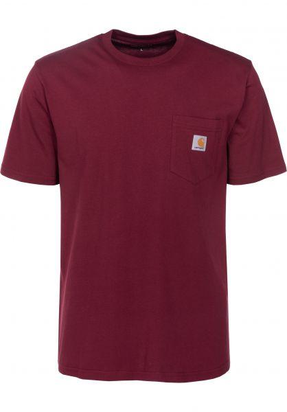 Carhartt WIP T-Shirts Pocket mulberry Vorderansicht