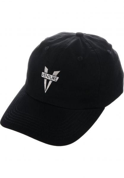 d56f82f92e2d Venture Caps Heritage Strapback black vorderansicht 0566109