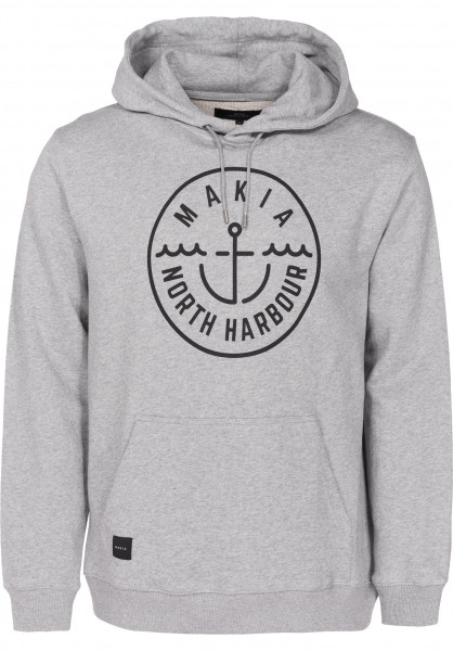 Makia Hoodies Crown grey Vorderansicht