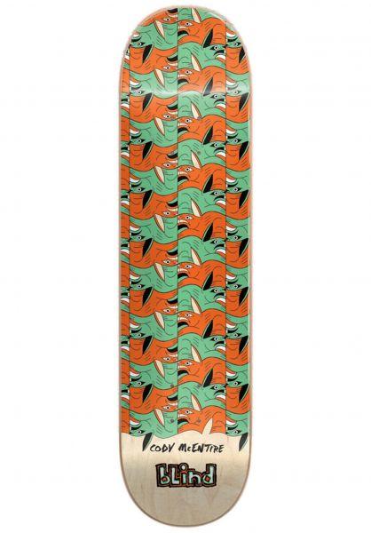 Blind Skateboard Decks McEntire Tile Style R7 green-orange Vorderansicht