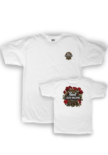 Loser-Machine T-Shirts x PBR Full Bloom white vorderansicht 0399080