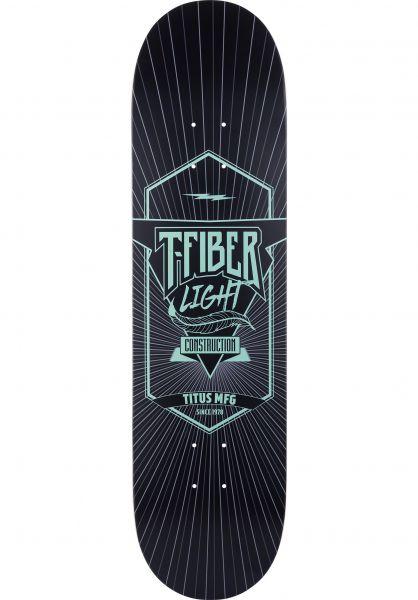 TITUS Skateboard Decks Classic T-Fiber Light black-turquoise Vorderansicht