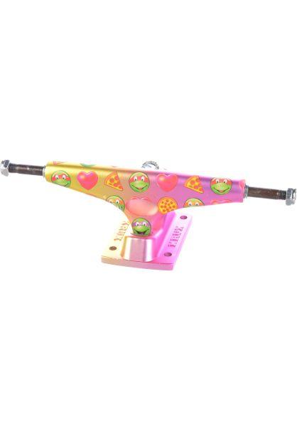 Krux Achsen 8.25  Krome Matte TMNT Emoji gold-pink vorderansicht 0122431