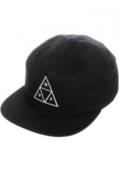 HUF Caps Triple Triangle Snapback black Vorderansicht 9c468ad362e