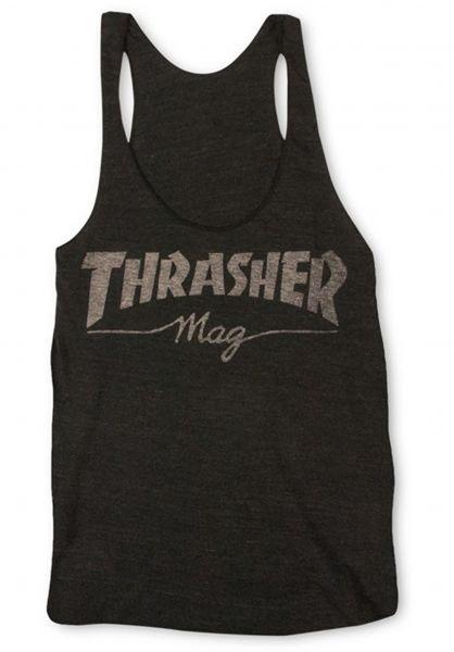 Thrasher Tops Mag Logo Racerback Girls black Vorderansicht