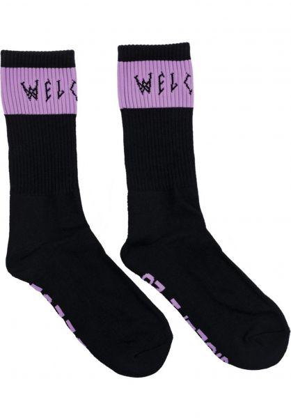 Welcome Socken Summon black-lilac Vorderansicht